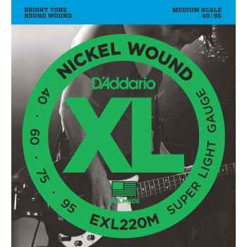 D´addario EXL220M Super Light Medium cuerdas para bajo